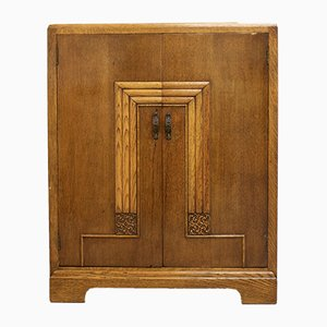 Art Deco Oak Cupboard or Tallboy, 1930s