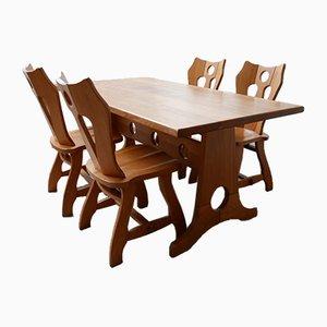 Mid-Century Brutalist Dining Table, 1970s
