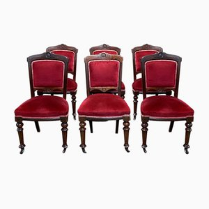 19th Century English Dining Chairs, Set of 6