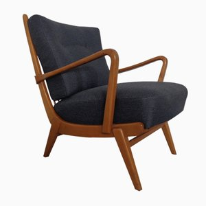 Mid-Century German Cherrywood Armchair by Walter Knoll for Walter Knoll / Wilhelm Knoll, 1950s
