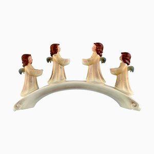 Advent Candleholder with Angels in Porcelain from Goebel, West Germany, 1971