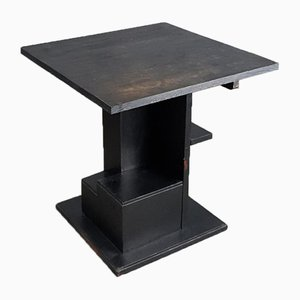Black Constructivist Side Table, 1920s