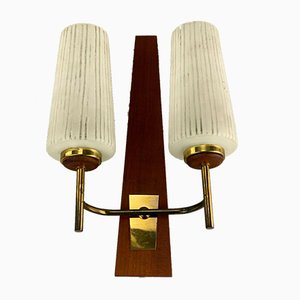 Teak Bag Wall Light, 1960s