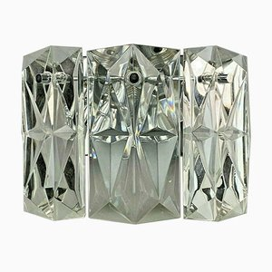 Space Age Glass Wall Light from Kinkeldey, 1960s