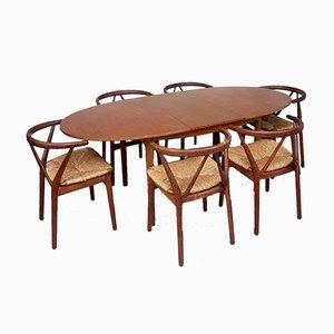 Mid-Century Teak Extendable Dining Table from McIntosh