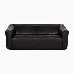 Black Leather DS 47 3-Seat Sofa from de Sede