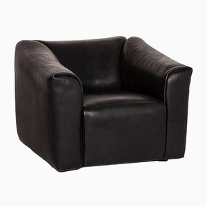 Black Leather DS 47 Armchair from de Sede