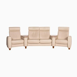 Cream Leather Arion 4-Seat Sofa from Stressless