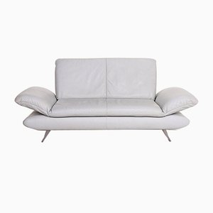 Ice Blue Leather 2-Seat Sofa from Koinor