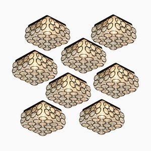 Quadratische oder quadratische Decken- oder Wandlampe aus Eisen von Glashütte Limburg, 1960er