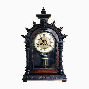 19th Century Victorian Carved Ornate Mantel Clock