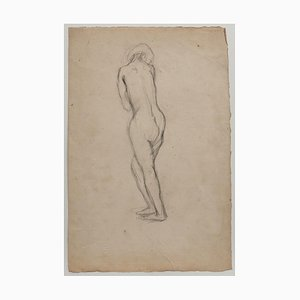 Nude Drawing in Pencil by Jeanne Daour