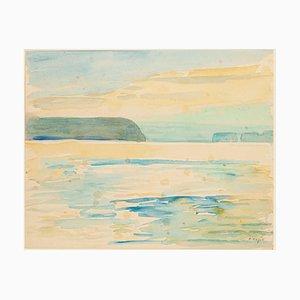 Im Golf von Arafura Aquarell von André Ragot, 1950er