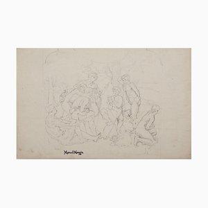 Concert of a Faun Bleistift auf Papier von Marcel Mangin, 19. Jahrhundert