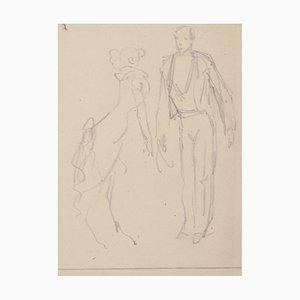 Bleistift Zeichnung von Eugene Guèrin