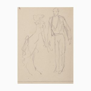 Figures Pencil Drawing by Eugene Guèrin