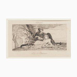 Soir D'Automne Radierung von A. Salmon, 19. Jahrhundert