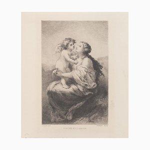 Psyche and Love Radierung auf Papier von Narcisse Virgilio Diaz, 1800