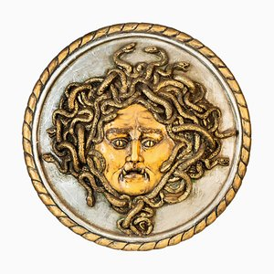 Italian Painted Chalk Plate with Medusa, 2007