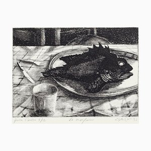 The Scorpionfish Etching by Piero Cesaroni, 1933