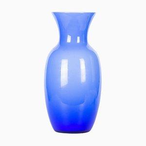 Vaso in vetro di Murano blu, Italia, anni '70