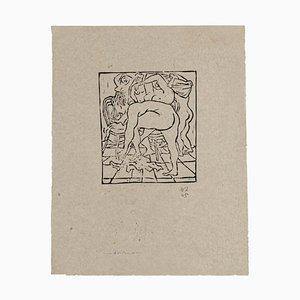 Nudes Xylograph by Amerigo Tot, 1945