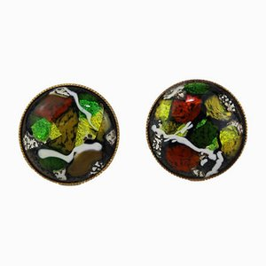 Enamel Cufflinks from Atelier Casanova, 1950s, Set of 2