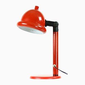 Tschechoslowakische Mid-Century Tischlampe aus Rotem Metall, 1960er