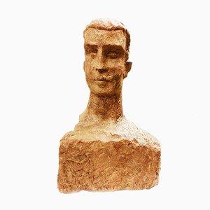 Toni Boni, Virile Bust, 1957, Terracotta Sculpture