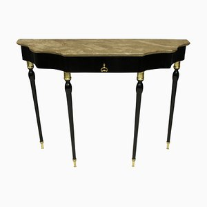 Italian Ebonized Console Table, 1950s