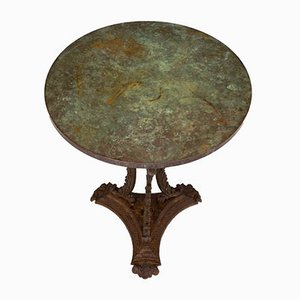 Cast Iron Table With Copper Top, 1850