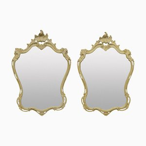 Italian Gesso Mirrors, Set of 2