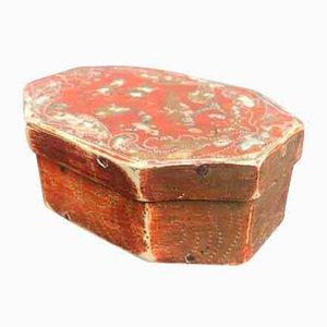 Italian Decorated Octagonal Box, 1700s