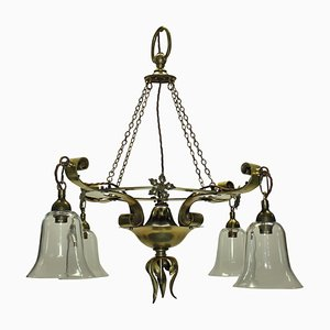 Antique English Arts & Crafts Chandelier