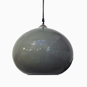 Mid-Century Italian Modern Gray Cased Glass Suspension, 1960s