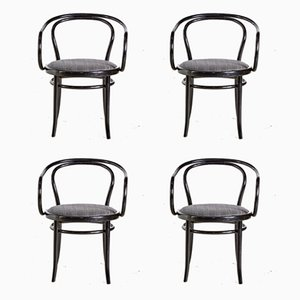 Model 29 Armchairs by August Thonet for Gebrüder Thonet Vienna GmbH, 1960s, Set of 4