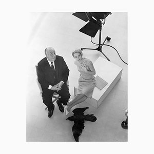 Alfred Hitchcock and Tippi Hedren Archival Pigment Print Framed in White