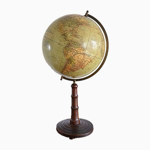 Vintage German Globe from Paul Räth & Dr. A. Krause, 1920s