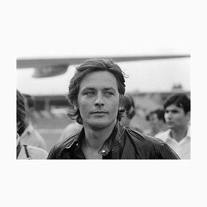 Alain Delon Archivdruck in Weiß von Jean-Pierre Bonnotte