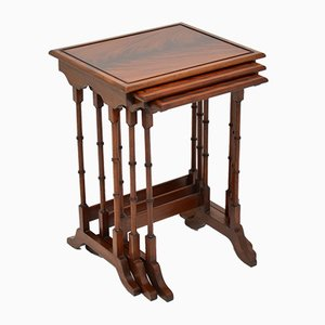 Antique Mahogany Nesting Tables, Set of 3