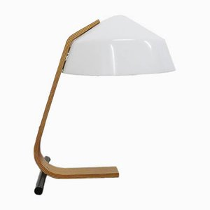 Mid-Century Laminated Wood Table Lamp from Temde