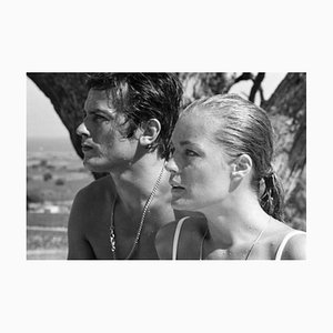 Alain Delon La Piscine Archival Pigment Print Framed in White by Giancarlo Botti