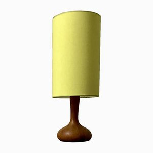 Vintage Solid Teak Inlaid Table Lamp