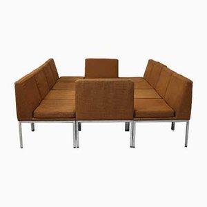 Modulares Sofa aus Stahl & Wolle von Louis Baillon für Planforms, 1960er, 10er Set