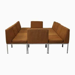 Steel & Wool Modular Sofa by Louis Baillon for Planforms, 1960s, Set of 10