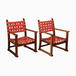 Fireside Chairs by Adolf Loos for Friedrich Otto Schmidt, 1930s, Set of 2