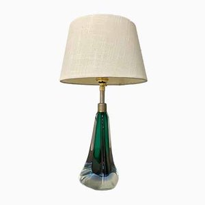 Light Green Murano Glass Table Lamp, 1960s