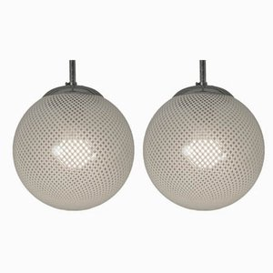 Filigree Ceiling Lamps by Paolo Venini for Venini, 1930s, Set of 2