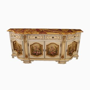 Italian Lacquered, Painted and Gilded Sideboard