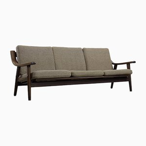 Mid-Century Scandinavian 3-Seat Sofa & Armchair by Hans J. Wegner for Getama, 1960s, Set of 2